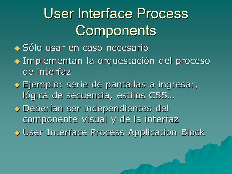 User Interface Process Components