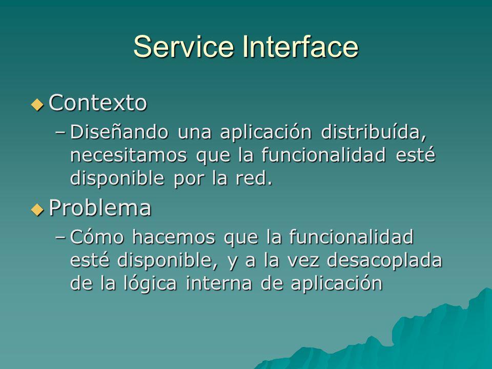 Service Interface Contexto Problema