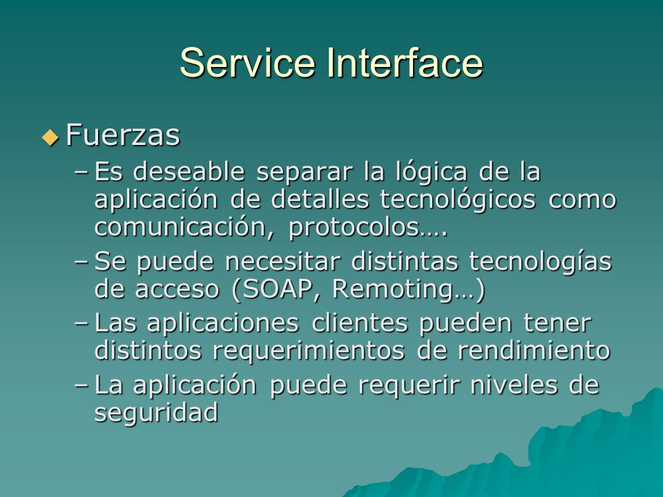 Service Interface Fuerzas