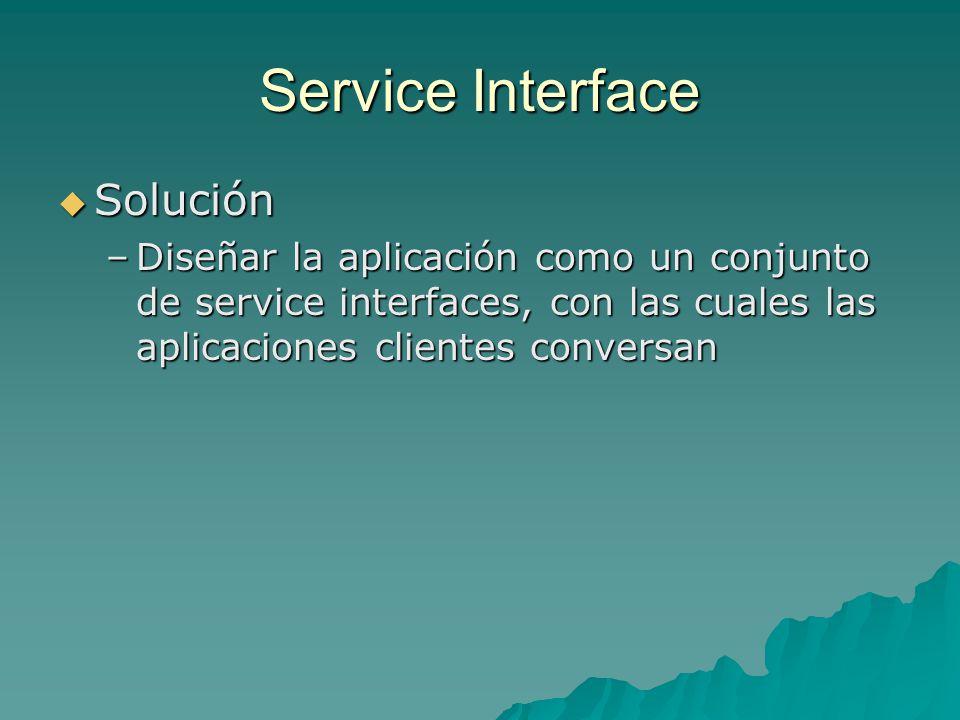 Service Interface Solución