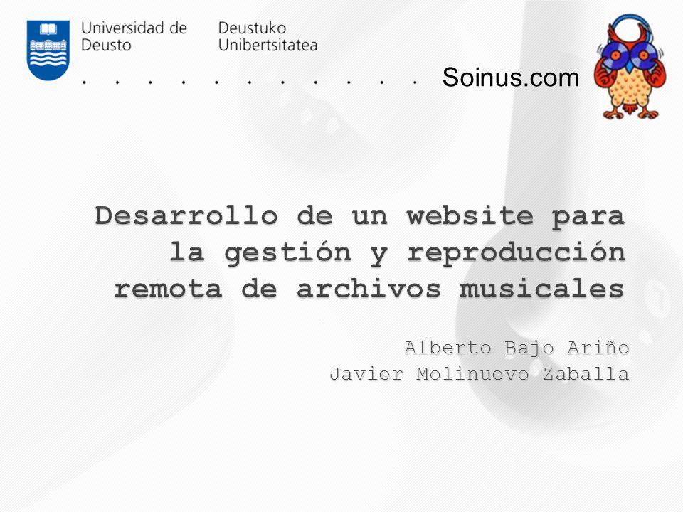 Alberto Bajo Ariño Javier Molinuevo Zaballa