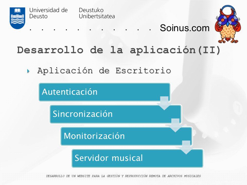 Desarrollo de la aplicación(II)