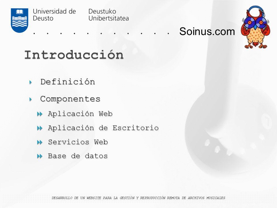 Introducción Soinus.com Definición Componentes Aplicación Web