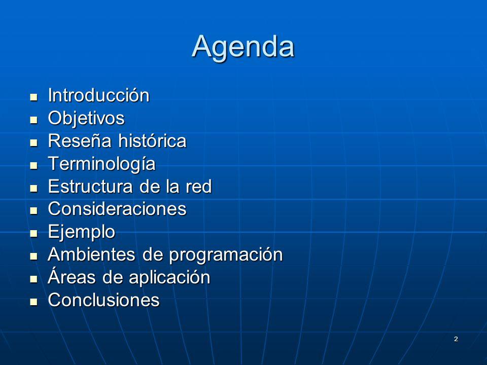 Agenda Introducción Objetivos Reseña histórica Terminología