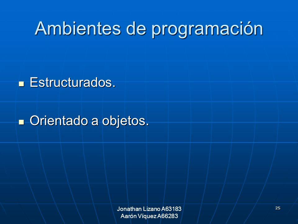 Ambientes de programación
