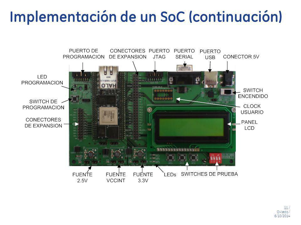 Implementación de un SoC (continuación)