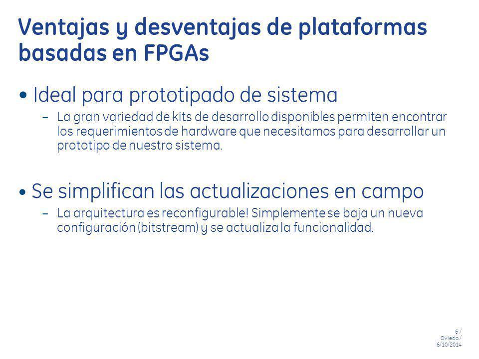 Ventajas y desventajas de plataformas basadas en FPGAs