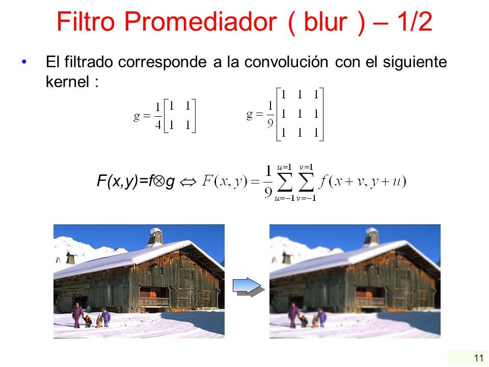 Filtro Promediador ( blur ) – 1/2