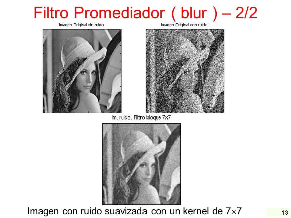 Filtro Promediador ( blur ) – 2/2