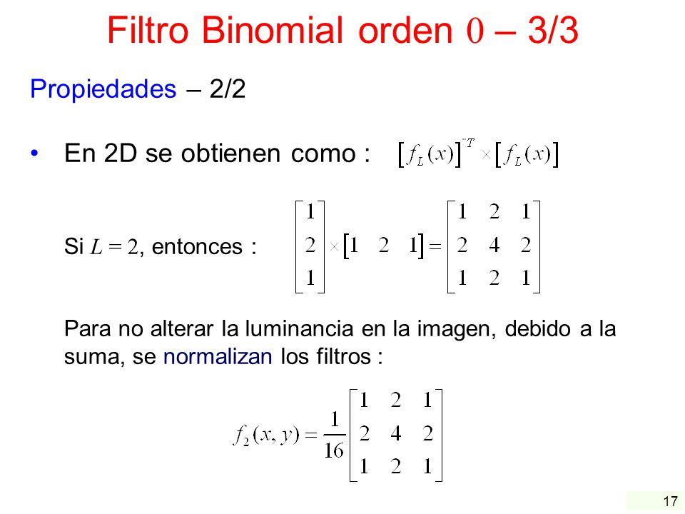 Filtro Binomial orden 0 – 3/3