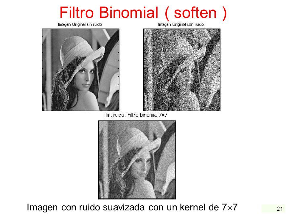 Filtro Binomial ( soften )