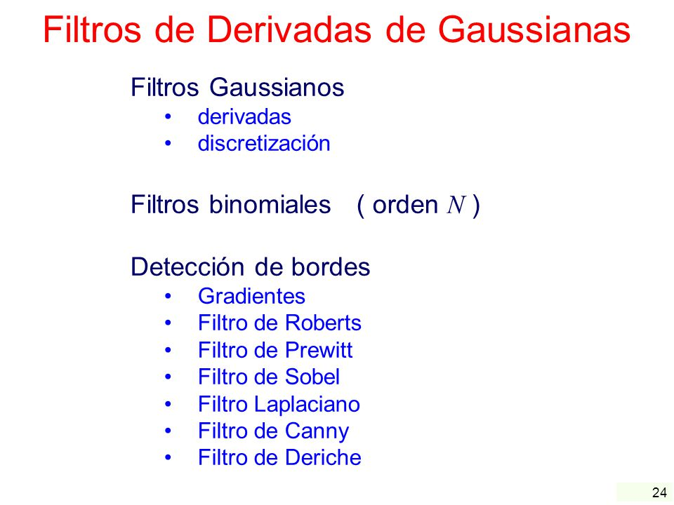 Filtros de Derivadas de Gaussianas