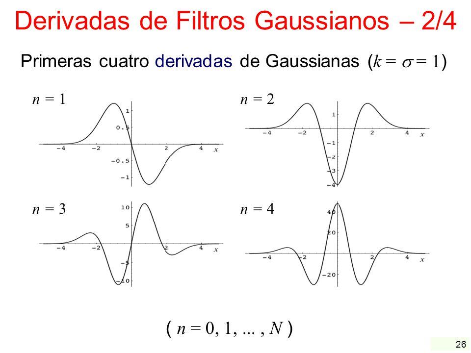 Derivadas de Filtros Gaussianos – 2/4