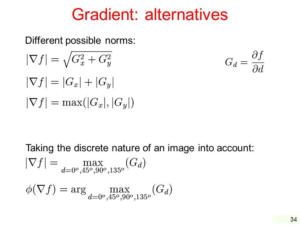 Gradient: alternatives