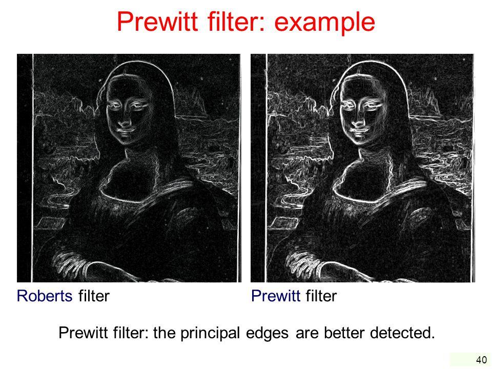 Prewitt filter: example