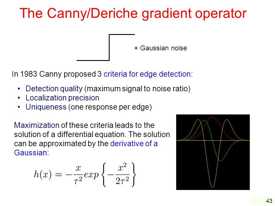 The Canny/Deriche gradient operator