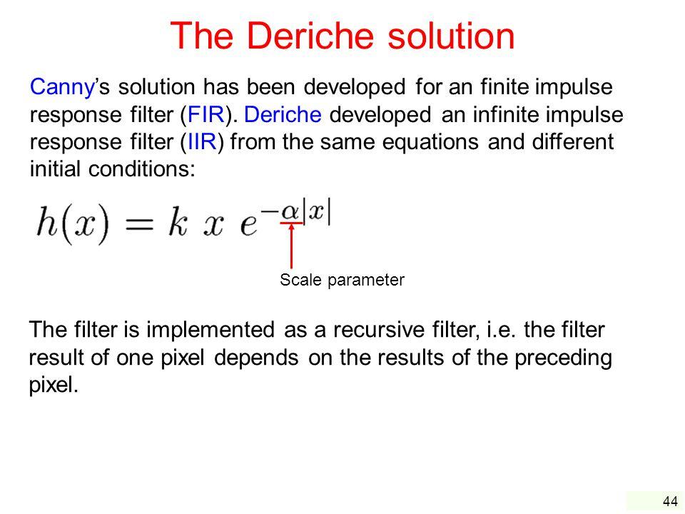 The Deriche solution