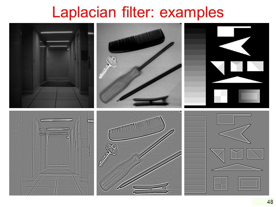 Laplacian filter: examples
