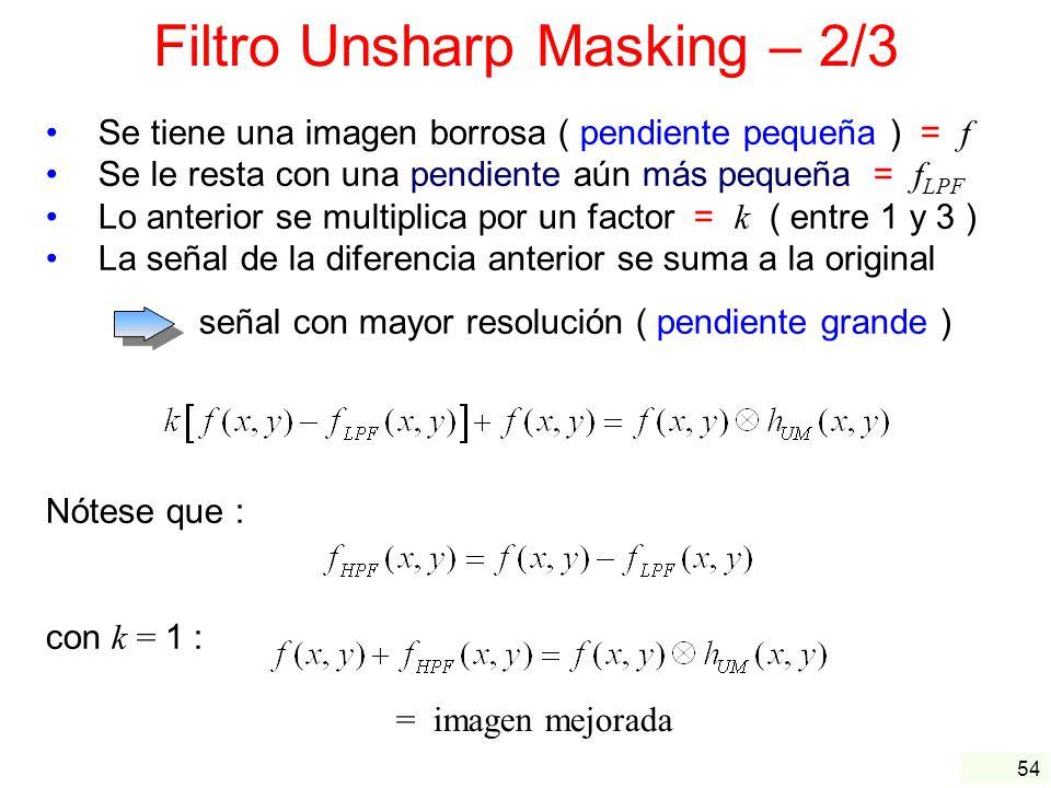 Filtro Unsharp Masking – 2/3