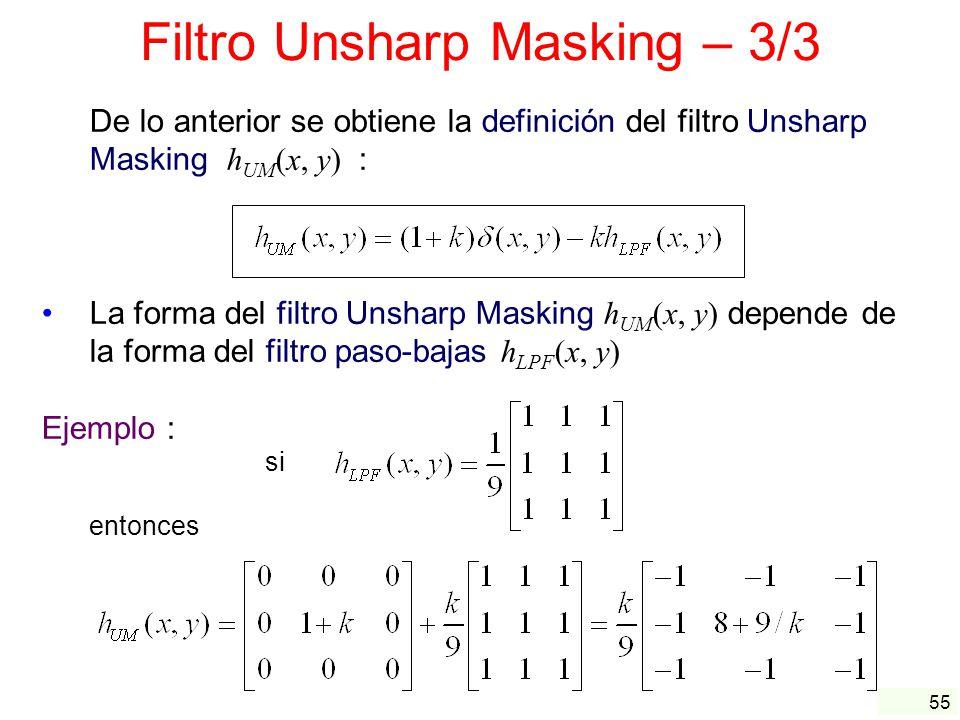 Filtro Unsharp Masking – 3/3