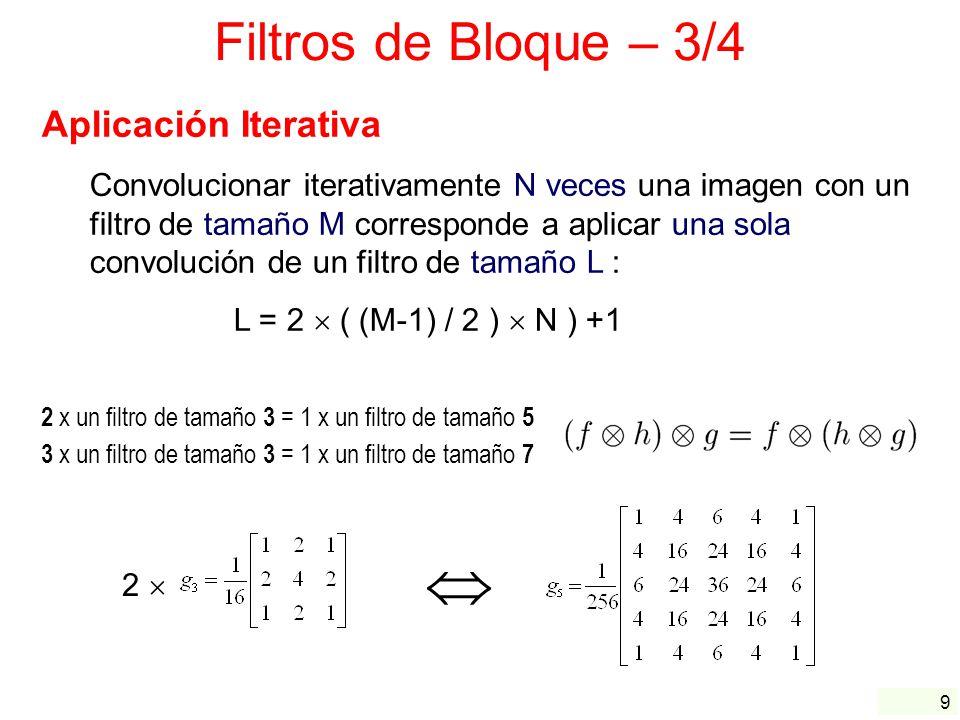  Filtros de Bloque – 3/4 Aplicación Iterativa