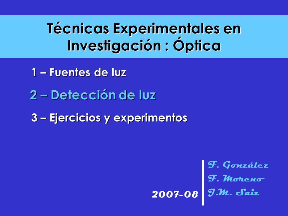 Técnicas Experimentales en Investigación : Óptica