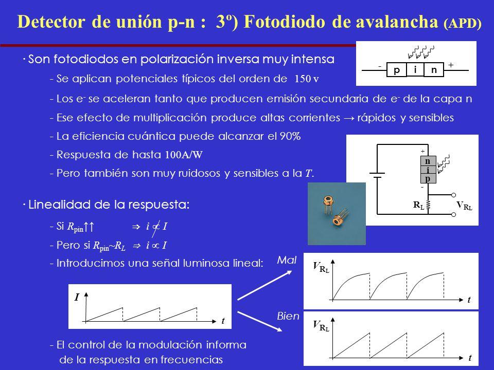 Detector de unión p-n : 3º) Fotodiodo de avalancha (APD)