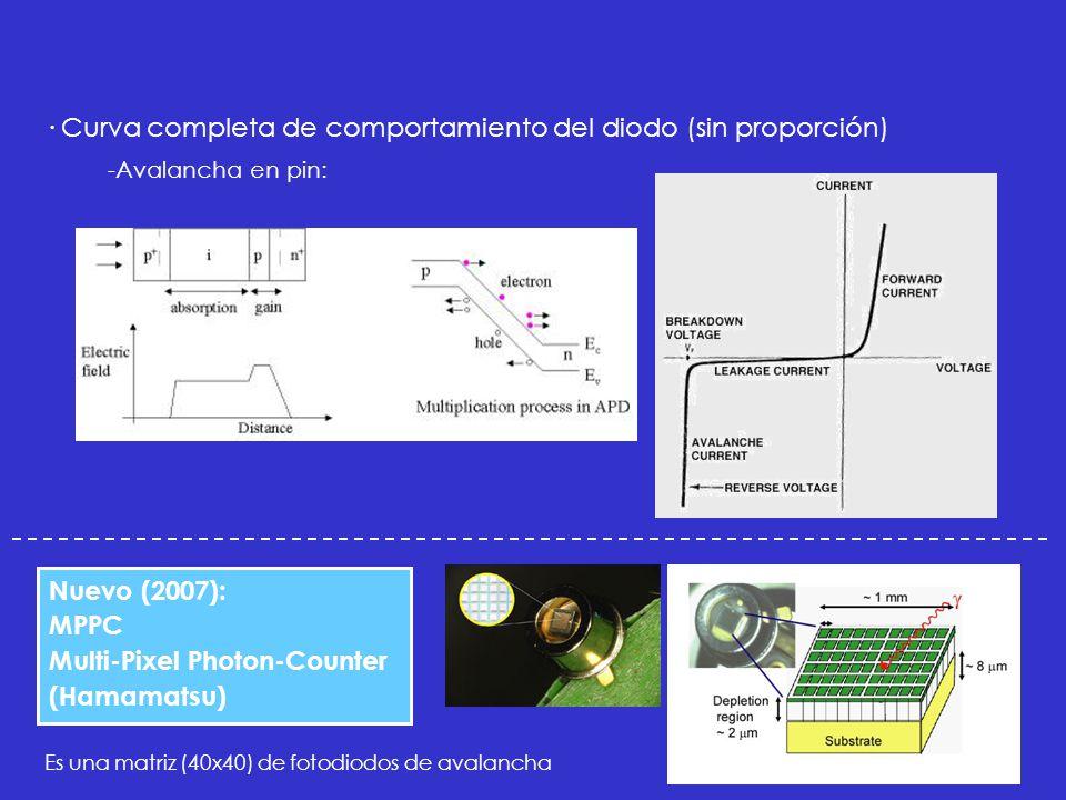 · Curva completa de comportamiento del diodo (sin proporción)