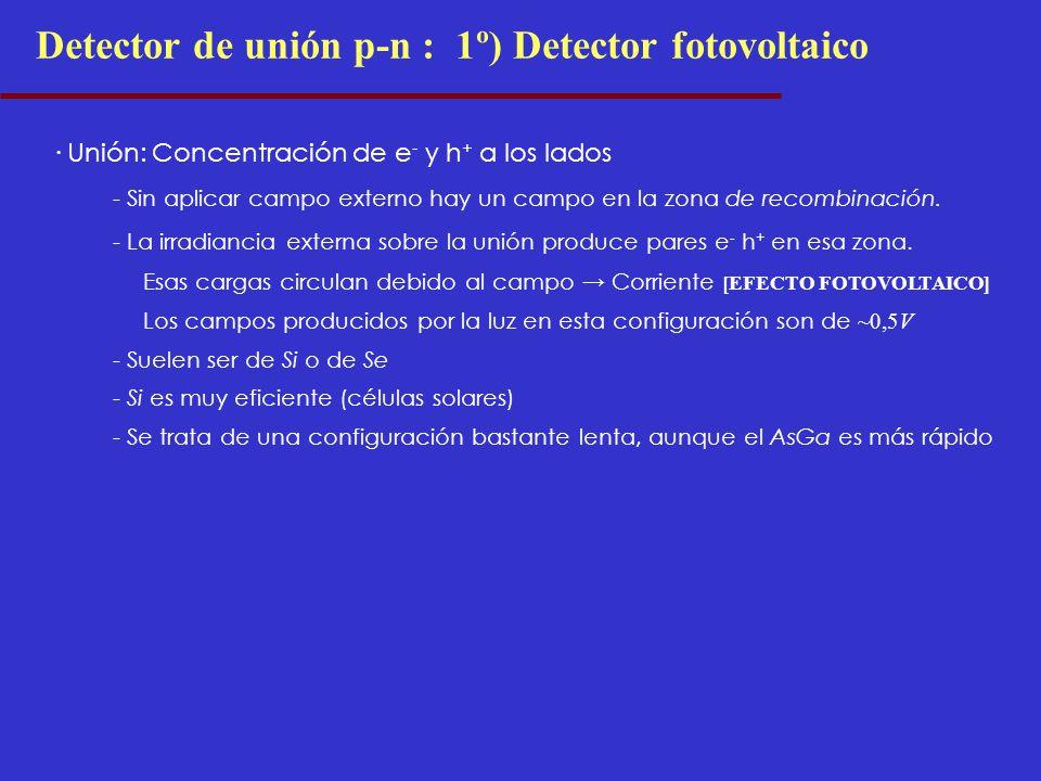 Detector de unión p-n : 1º) Detector fotovoltaico