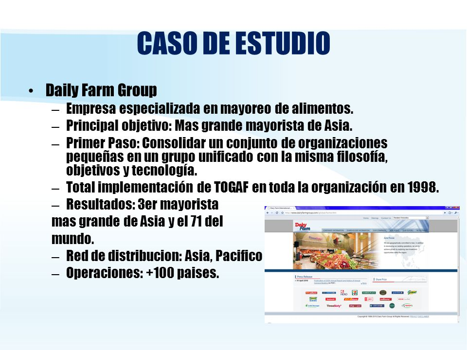 CASO DE ESTUDIO Daily Farm Group