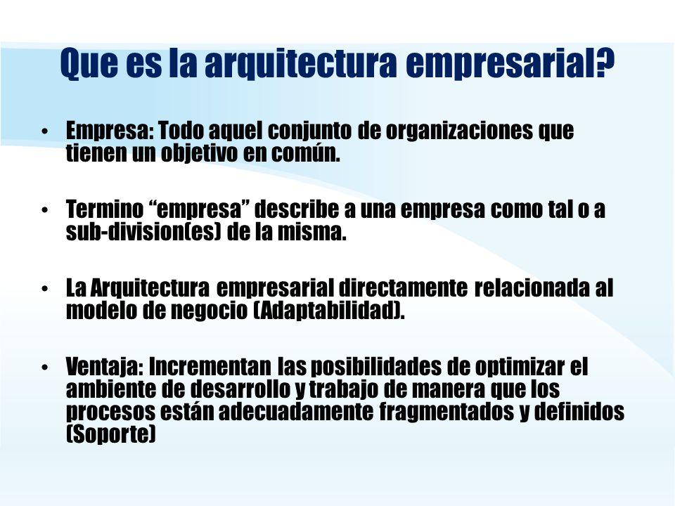 Que es la arquitectura empresarial