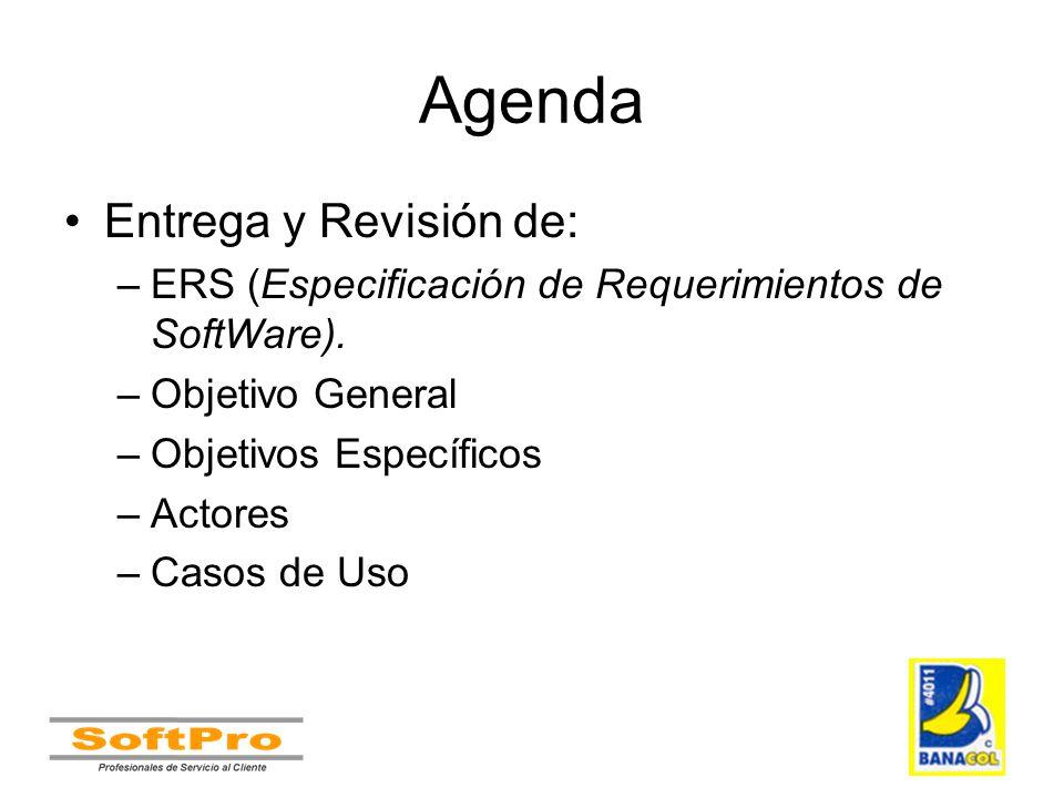 Agenda Entrega y Revisión de: