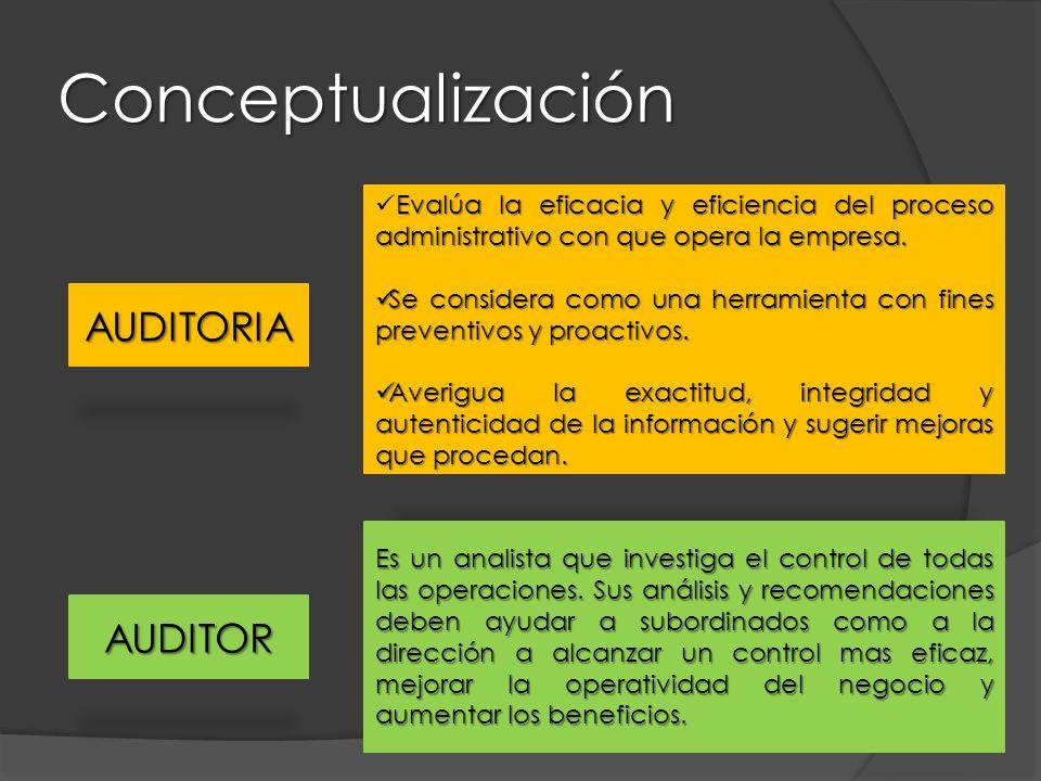 Conceptualización AUDITORIA AUDITOR