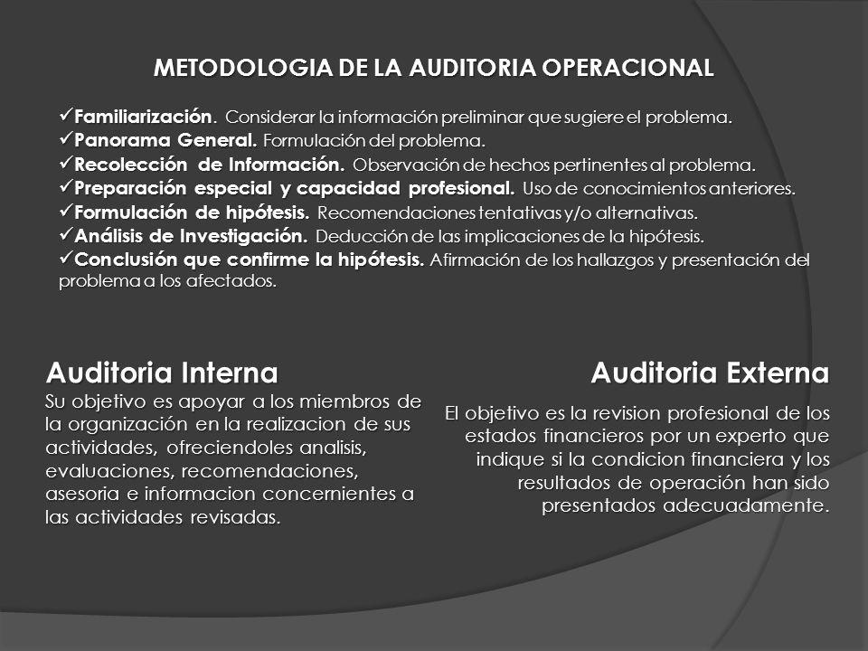 METODOLOGIA DE LA AUDITORIA OPERACIONAL