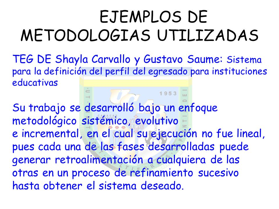EJEMPLOS DE METODOLOGIAS UTILIZADAS
