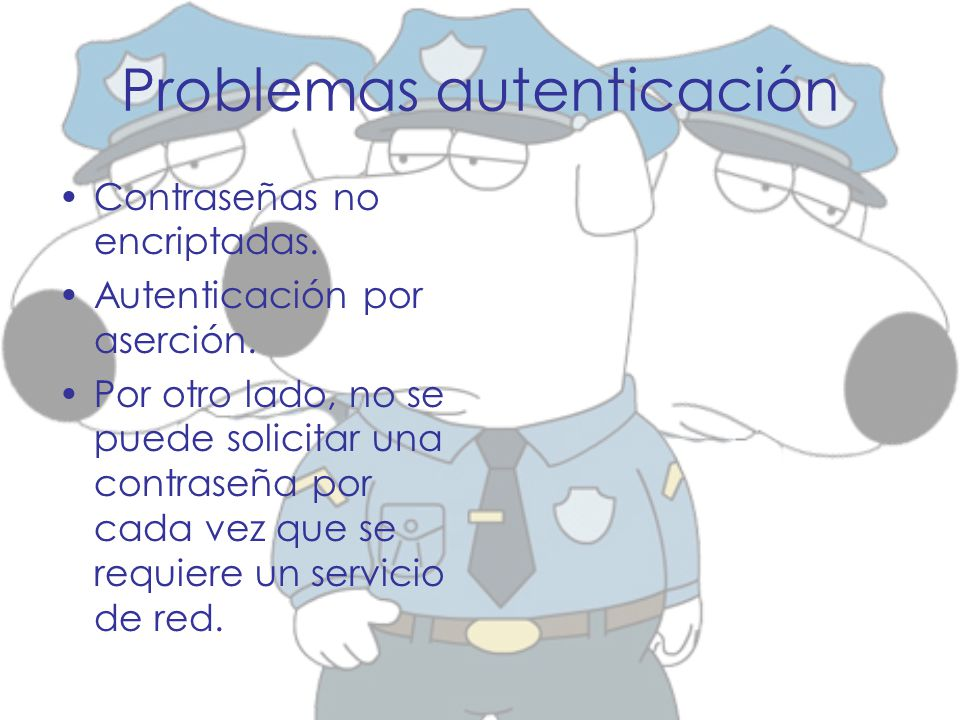Problemas autenticación