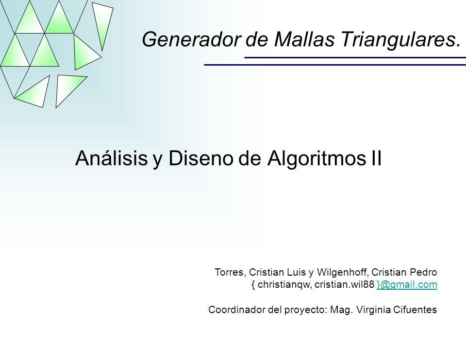 Generador de Mallas Triangulares.