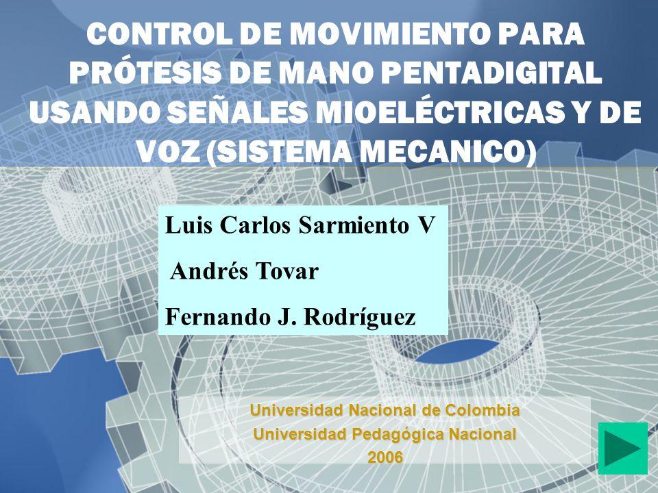 Universidad Nacional de Colombia Universidad Pedagógica Nacional 2006
