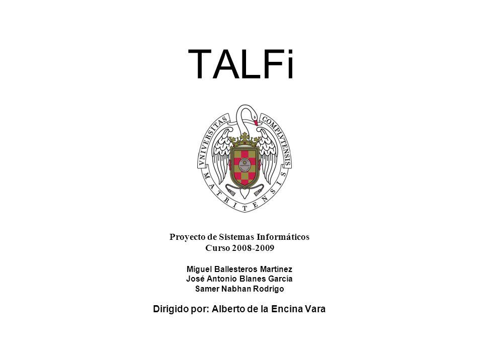 Introducción ¿Qué es TALFi Aplicación sobre autómatas.