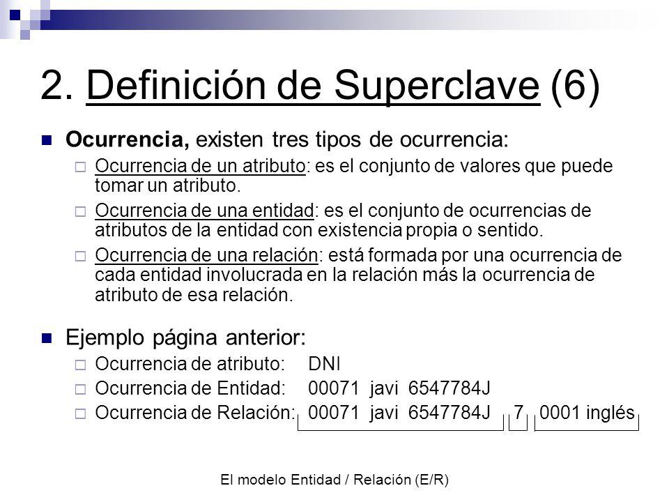 2. Definición de Superclave (6)