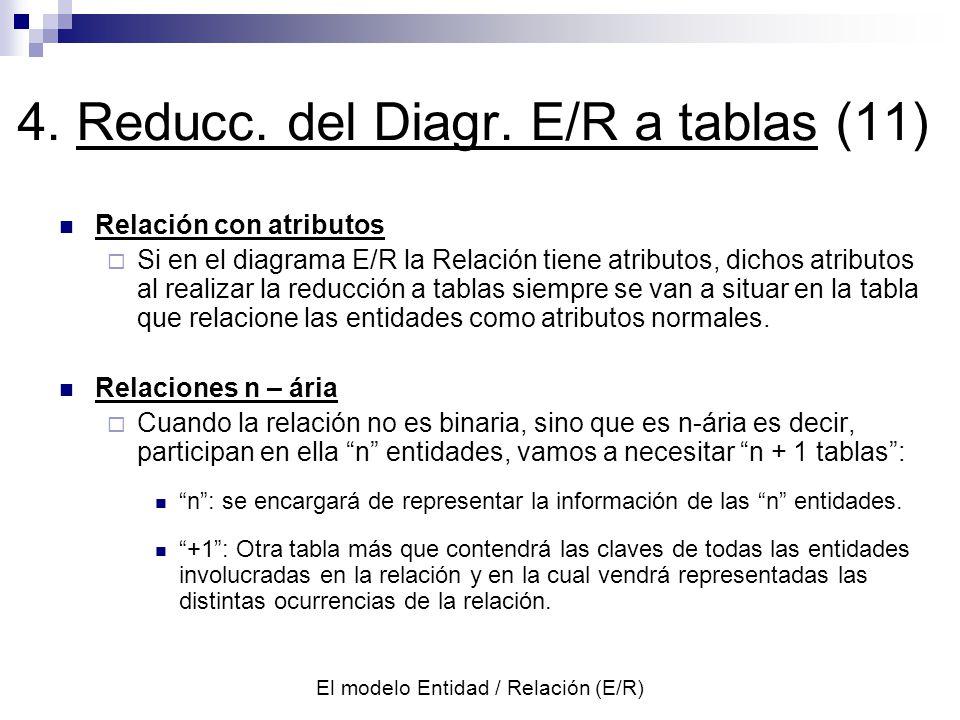 4. Reducc. del Diagr. E/R a tablas (11)