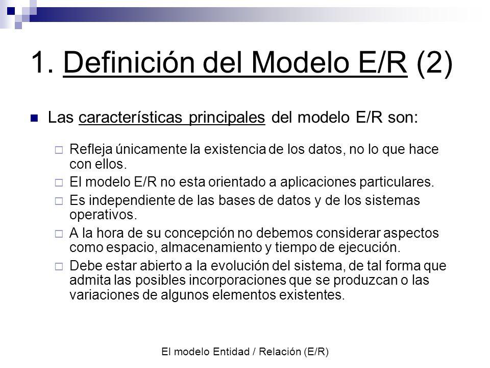 1. Definición del Modelo E/R (2)