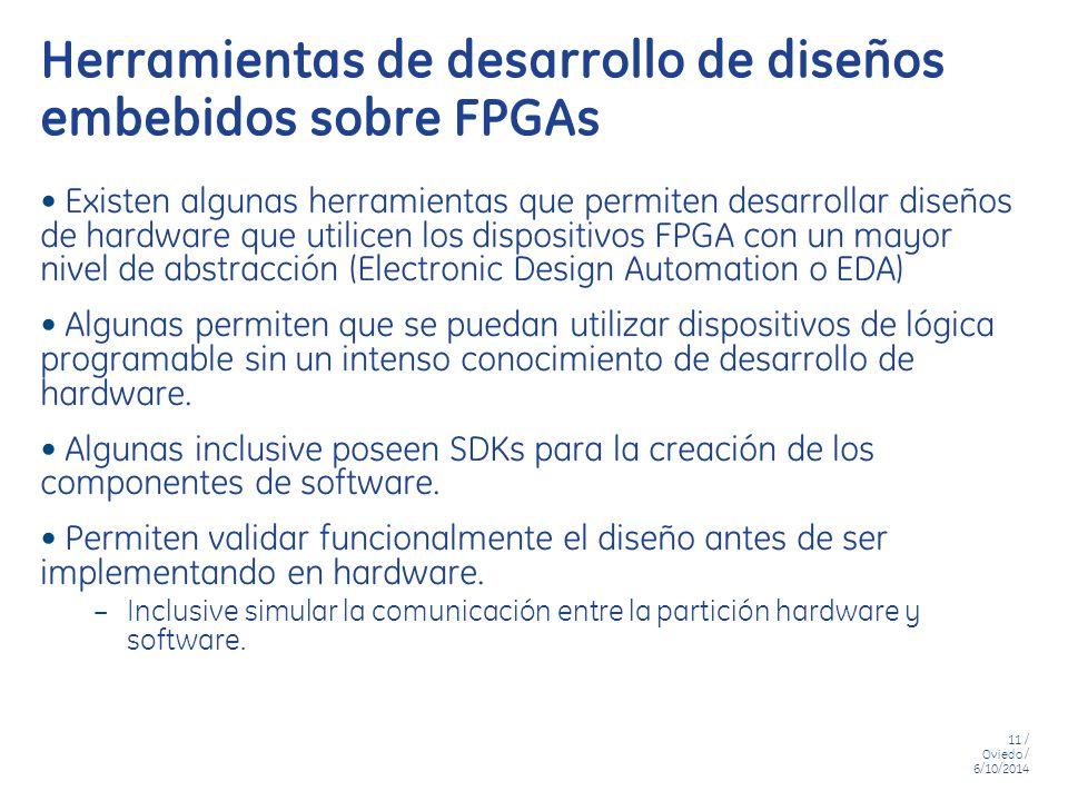 Herramientas de desarrollo de diseños embebidos sobre FPGAs