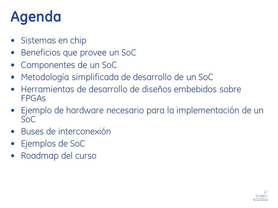 Agenda Sistemas en chip Beneficios que provee un SoC