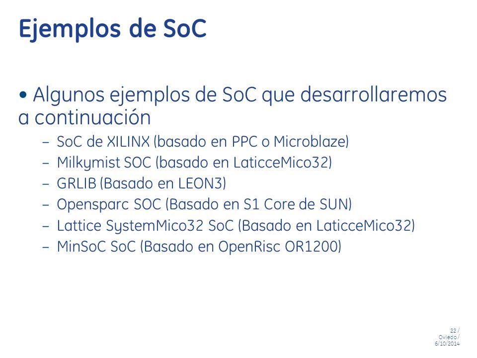 Ejemplos de SoC Algunos ejemplos de SoC que desarrollaremos a continuación. SoC de XILINX (basado en PPC o Microblaze)