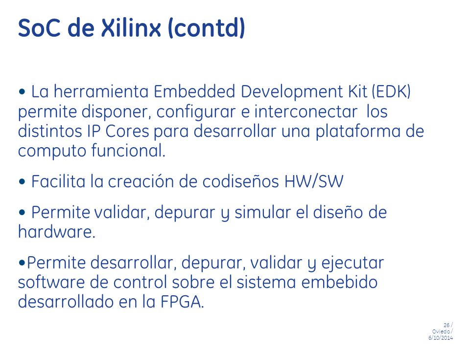 SoC de Xilinx (contd)