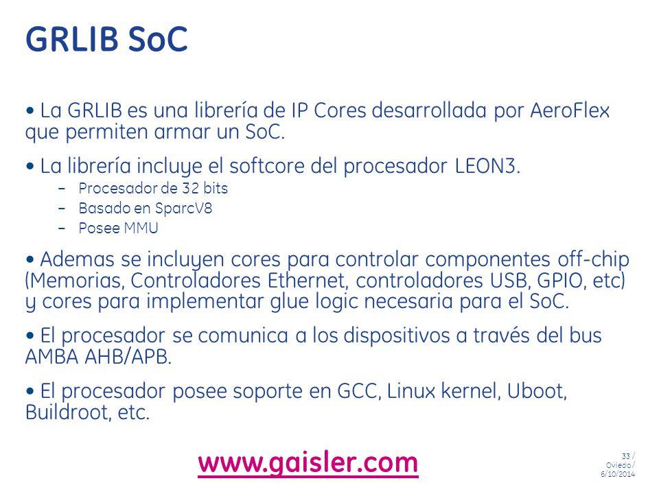 GRLIB SoC www.gaisler.com