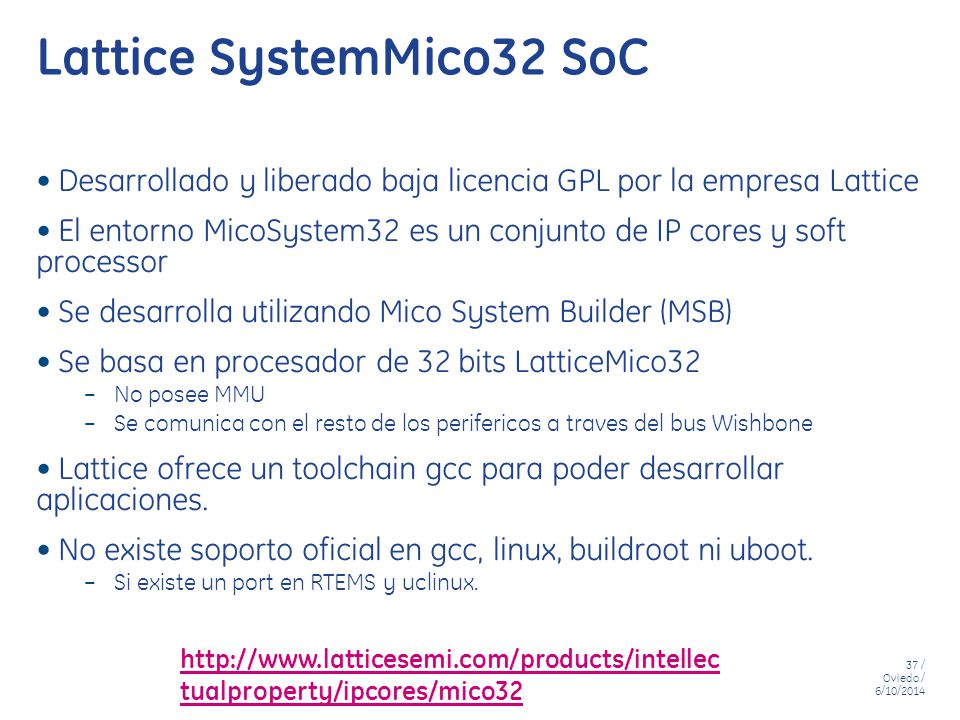Lattice SystemMico32 SoC