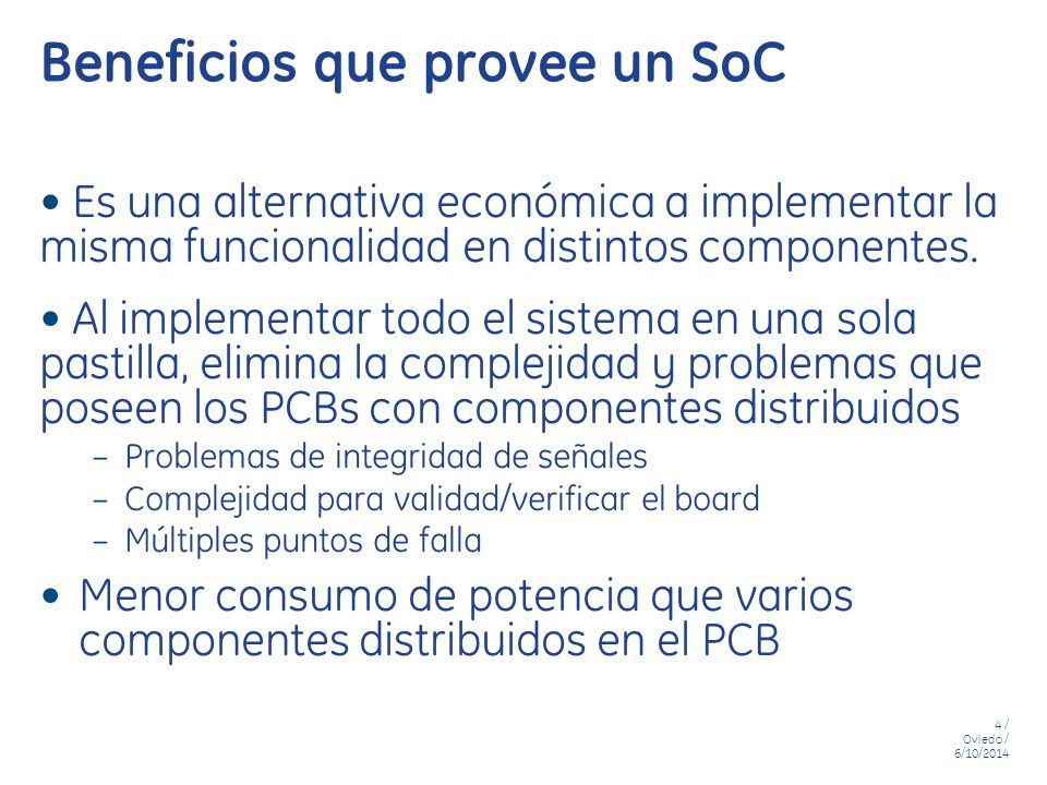 Beneficios que provee un SoC