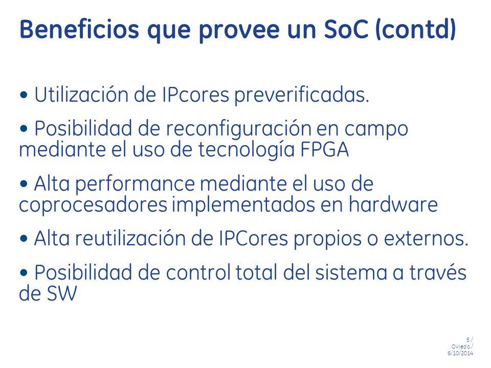 Beneficios que provee un SoC (contd)